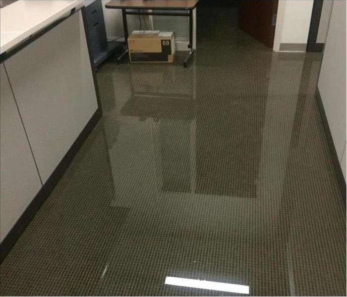 Office Covered with Water in Omaha Before