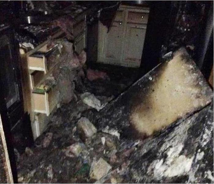 Fire Damage – Omaha Kitchen  Before