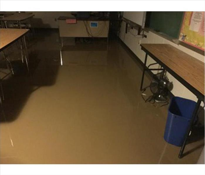 Flooded Hard Surface Floor at the High School